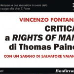 Critica a Rights of Man di Thomas Paine- L'ultimo saggio di Vincenzo Fontana