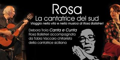 Quarto Tempo e il tributo a Rosa Balistreri, la cantatrice del Sud