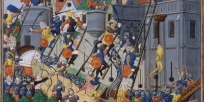 dipinto assedio Costantinopoli