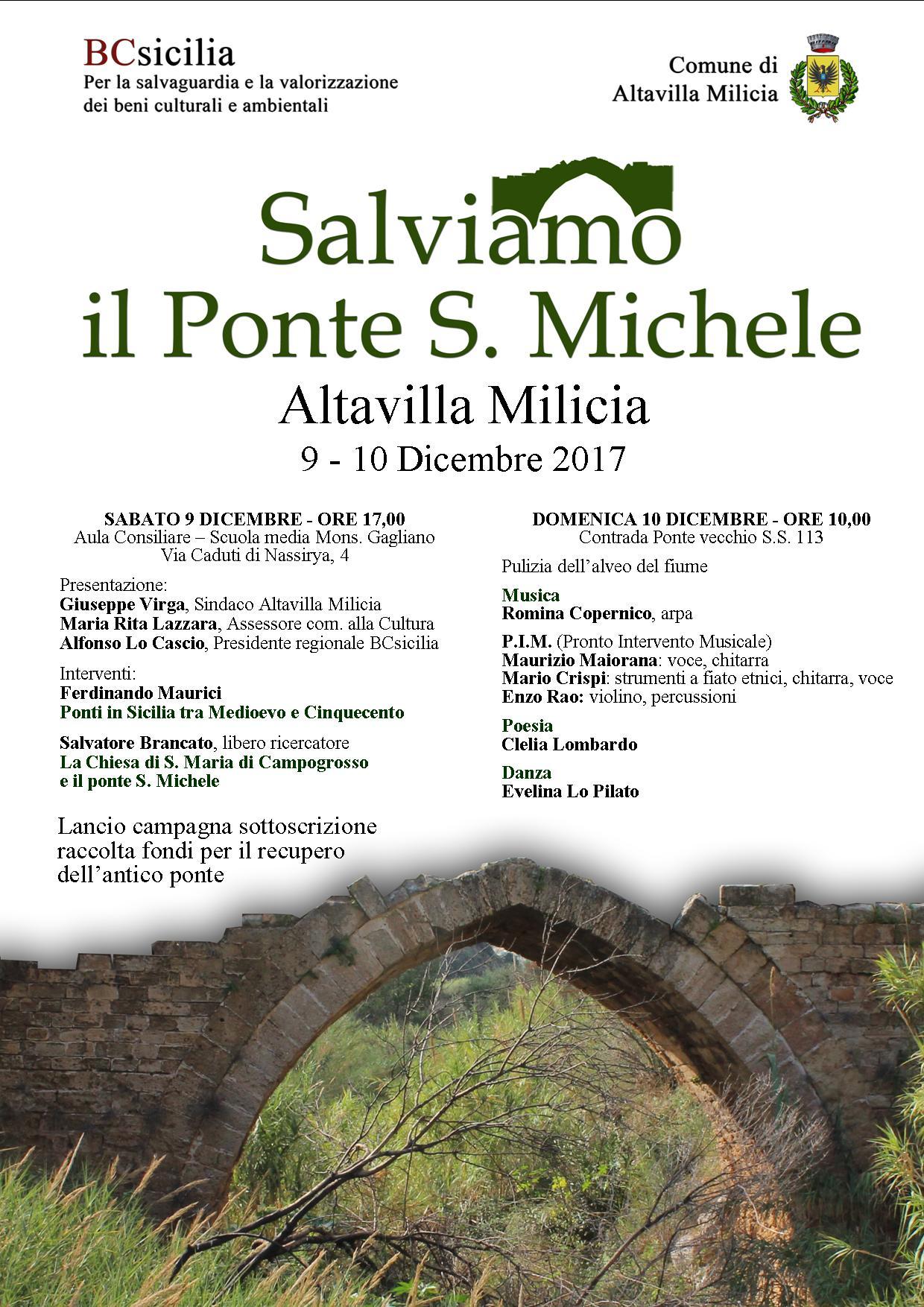 Locandina Programma Salviamo il Ponte S. Michele